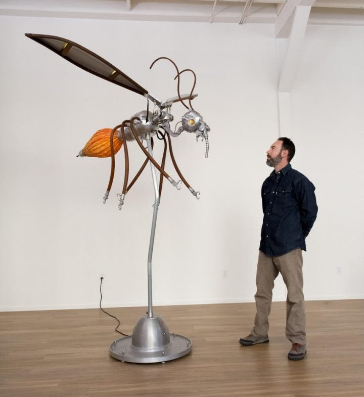Nemo Gould with a Kinetic Sculpture