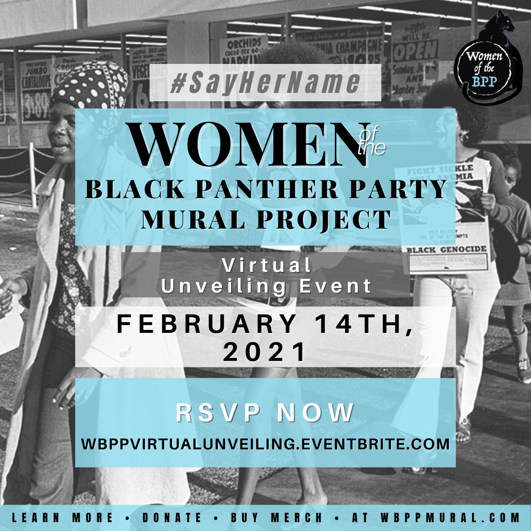 Women of the Black Panther Party Mural Unveiling Event